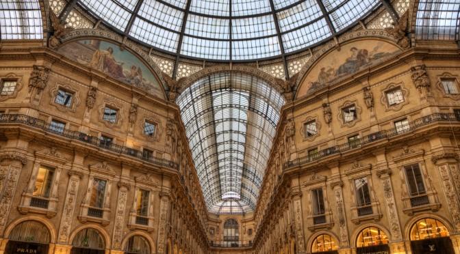 Nel bel mezzo della Galleria di Milano